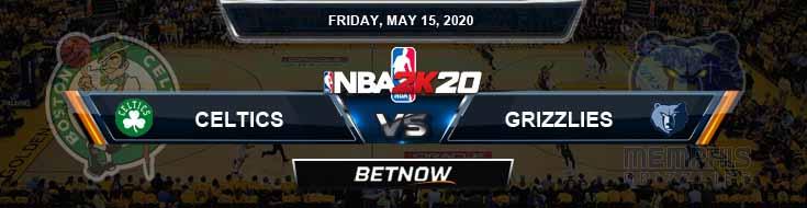 NBA 2k20 Sim Boston Celtics vs Memphis Grizzlies 5-15-2020 NBA Odds and Picks