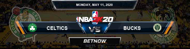 NBA 2k20 Sim Boston Celtics vs Milwaukee Bucks 5-11-2020 NBA Odds and Picks