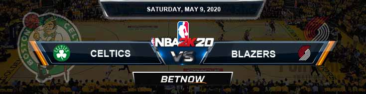 NBA 2k20 Sim Boston Celtics vs Portland Trail Blazers 5-9-2020 NBA Odds and Picks