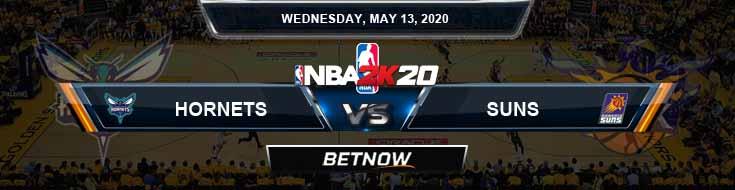 NBA 2k20 Sim Charlotte Hornets vs Phoenix Suns 5-13-2020 NBA Odds and Picks