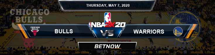 NBA 2k20 Sim Chicago Bulls vs Golden State Warriors 5-7-2020 NBA Odds and Picks