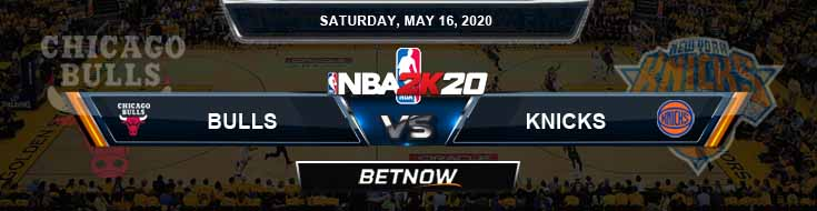 NBA 2k20 Sim Chicago Bulls vs New York Knicks 5-16-2020 NBA Odds and Picks
