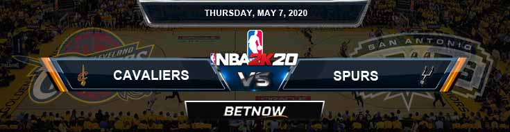 NBA 2k20 Sim Cleveland Cavaliers vs San Antonio Spurs 5-7-2020 NBA Odds and Picks