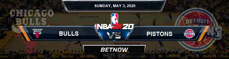 NBA 2k20 Sim Detroit Pistons vs Chicago Bulls 5-3-20 Previews Odds and Picks