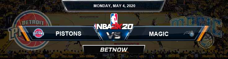 NBA 2k20 Sim Detroit Pistons vs Orlando Magic 5-4-20 NBA Odds and Picks