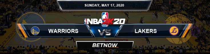 NBA 2k20 Sim Golden State Warriors vs Los Angeles Lakers 5-17-2020 NBA Odds and Picks