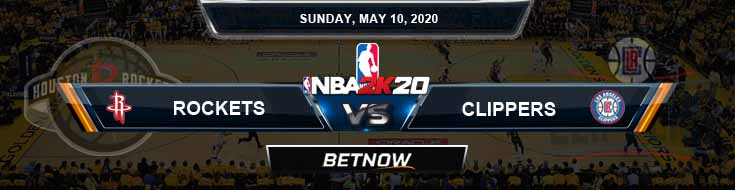 NBA 2k20 Sim Houston Rockets vs Los Angeles Clippers 5-10-2020 NBA Odds and Picks