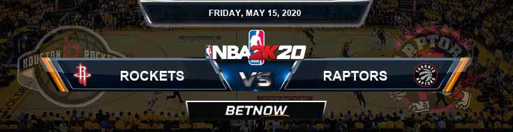 NBA 2k20 Sim Houston Rockets vs Toronto Raptors 5-15-2020 NBA Odds and Picks