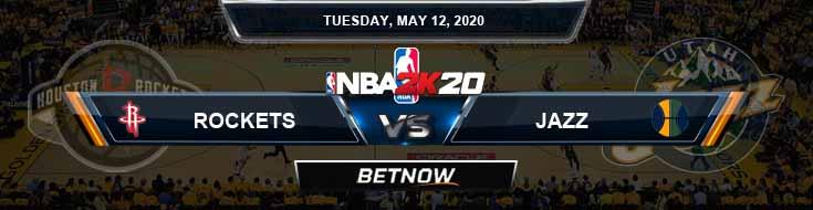 NBA 2k20 Sim Houston Rockets vs Utah Jazz 5-12-20 NBA Odds and Picks