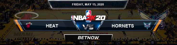 NBA 2k20 Sim Miami Heat vs Charlotte Hornets 5-15-2020 NBA Odds and Picks