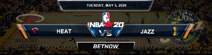 NBA 2k20 Sim Miami Heat vs Utah Jazz 5-5-2020 Odds Picks and Previews