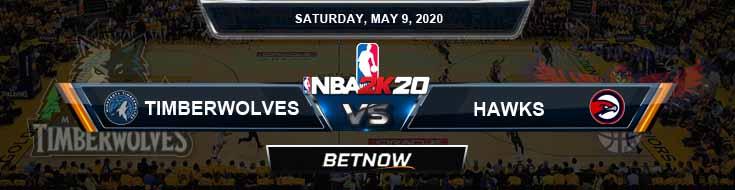 NBA 2k20 Sim Minnesota Timberwolves vs Atlanta Hawks 5-9-2020 NBA Odds and Picks