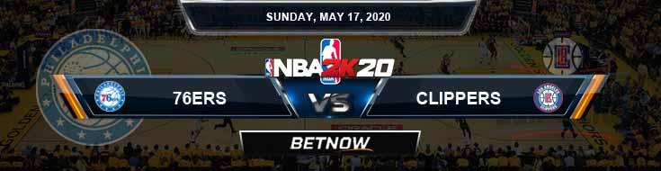 NBA 2k20 Sim Philadelphia 76ers vs Los Angeles Clippers 5-17-2020 NBA Odds and Picks