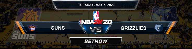 NBA 2k20 Sim Phoenix Suns vs Memphis Grizzlies 5-5-2020 NBA Odds and Picks