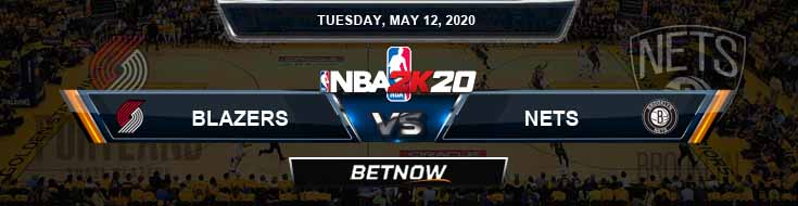 NBA 2k20 Sim Portland Trail Blazers vs Brooklyn Nets 5-12-2020 NBA Odds and Picks