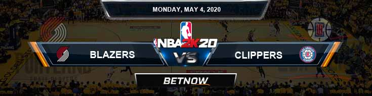 NBA 2k20 Sim Portland Trail Blazers vs Los Angeles Clippers 5-4-2020 NBA Odds and Picks