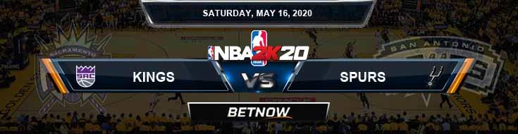 NBA 2k20 Sim Sacramento Kings vs San Antonio Spurs 5-16-2020 NBA Odds and Picks