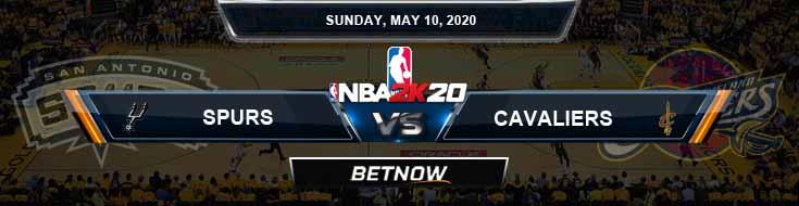 NBA 2k20 Sim San Antonio Spurs vs Cleveland Cavaliers 5-10-2020 NBA Odds and Picks