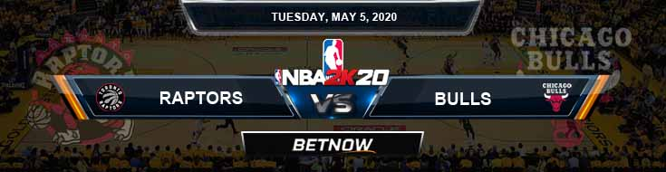 NBA 2k20 Sim Toronto Raptors vs Chicago Bulls 5-5-2020 NBA Odds and Picks