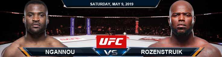 Ngannou vs Rozenstruik 05092020 UFC Predictions, Picks and Odds