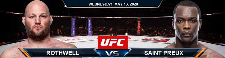 Rothwell vs Saint Preux 05-13-2020 UFC Spread Betting Tips and Results