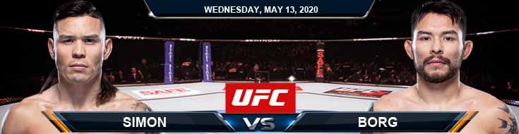 Simon vs Borg 05-13-2020 UFC Picks Betting Predictions and Odds