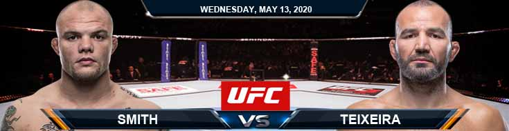 Smith vs Teixeira 05-13-2020 UFC Picks Betting Predictions and Previews
