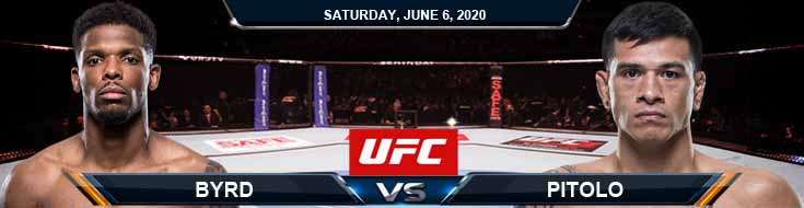 UFC 250 Byrd vs Pitolo 06-06-2020 UFC Forecasts Tips and Betting Results