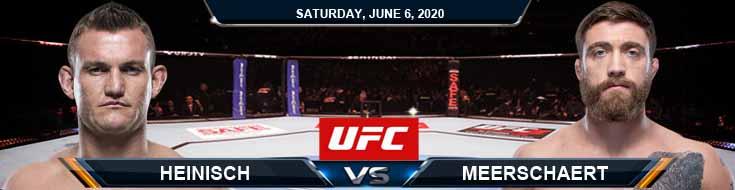 UFC 250 Heinisch vs Meerschaert 06-06-2020 UFC Analysis Odds and Betting Picks