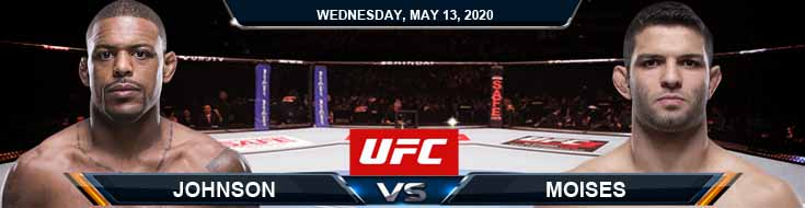 UFC Fight Night 171 Johnson vs Moises 05-13-2020 UFC Previews Betting Odds and Tips