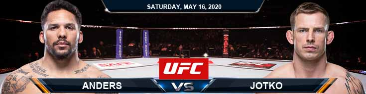 UFC Fight Night 172 Anders vs Jotko 05-16-2020 UFC Picks Forecasts and Predictions