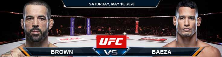 UFC Fight Night 172 Brown vs Baeza 05-16-2020 UFC Picks Betting Tips and Predictions