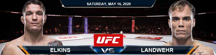 UFC Fight Night 172 Elkins vs Landwehr 05-16-2020 UFC Predictions Betting Tips and Fight Analysis