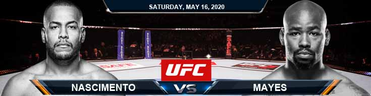UFC Fight Night 172 Nascimento vs Mayes 05-16-2020 UFC Picks Betting Tips and Predictions