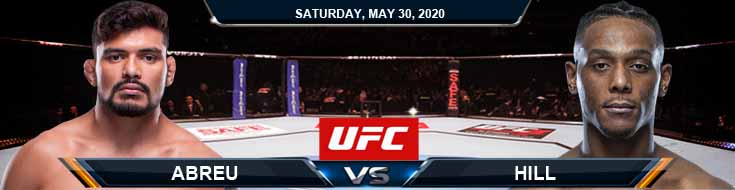 UFC on ESPN 9 Abreu vs Hill 05-30-2020 UFC Odds Tips and Betting Predictions