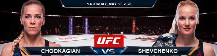 UFC on ESPN 9 Chookagian vs Shevchenko 05-30-2020 UFC Forecasts Betting Picks and Tips
