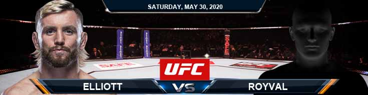 UFC on ESPN 9 Elliott vs Royval 05-30-2020 UFC Predictions Betting Spread and Results