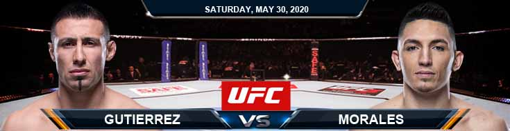 UFC on ESPN 9 Gutierrez vs Morales 05-30-2020 UFC Picks Odds and Betting Results