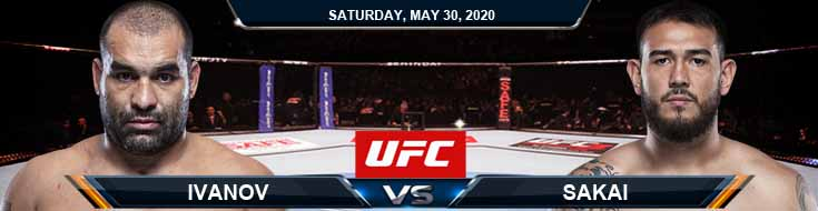 UFC on ESPN 9 Ivanov vs Sakai 05-30-2020 Betting Odds UFC Spread and Fight Analysis