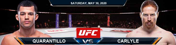 UFC on ESPN 9 Quarantillo vs Carlyle 05-30-2020 UFC Fight Analysis Previews and Betting Odds