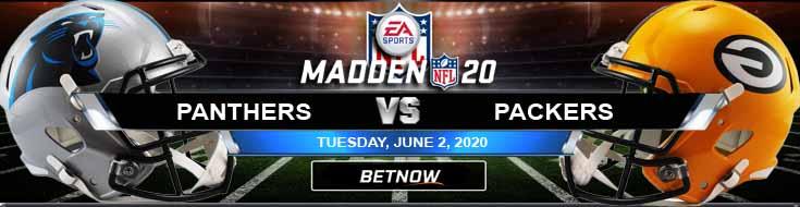 Carolina Panthers vs Green Bay Packers 06-02-2020 Madden20 Betting Football Tips and Forecast