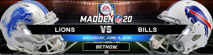 Detroit Lions vs Buffalo Bills 06-06-2020 NFL Madden20 Previews Betting Spread and Football Analysis