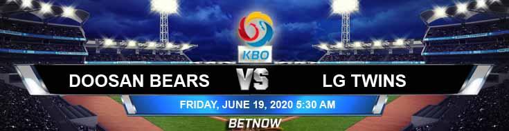 Doosan Bears vs LG Twins 06-13-2020 KBO Betting Predictions and Baseball Odds