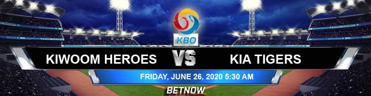 KIA Tigers vs Kiwoom Heroes 06-26-2020 KBO Spread Baseball Predictions and Betting Odds