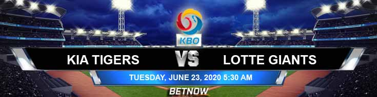 KIA Tigers vs Lotte Giants 06-23-2020 KBO Predictions Betting Spread and Baseball Odds