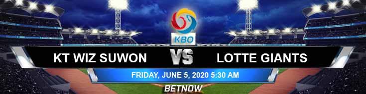 KT Wiz Suwon vs Lotte Giants 06-05-2020 KBO Tips Baseball Spread and Betting Picks