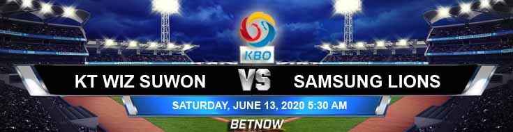 KT Wiz Suwon vs Samsung Lions 06-13-2020 KBO Tips Baseball Predictions and Betting Picks