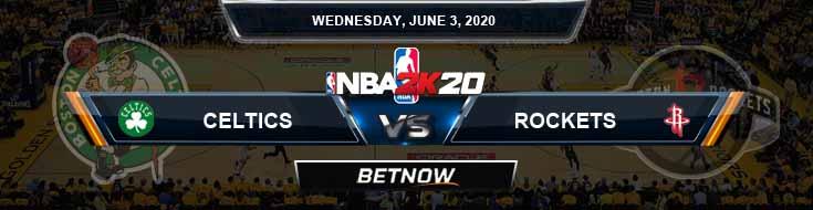 NBA 2k20 Sim Boston Celtics vs Houston Rockets 6-3-2020 NBA Odds and Picks