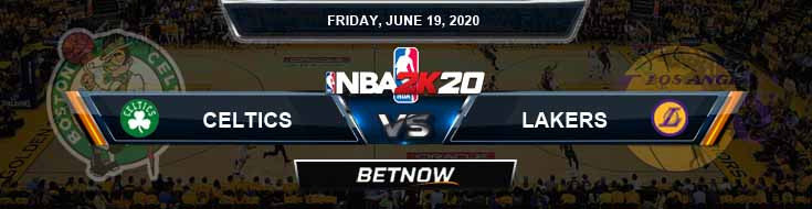 NBA 2k20 Sim Boston Celtics vs Los Angeles Lakers 6-19-2020 NBA Odds and Picks