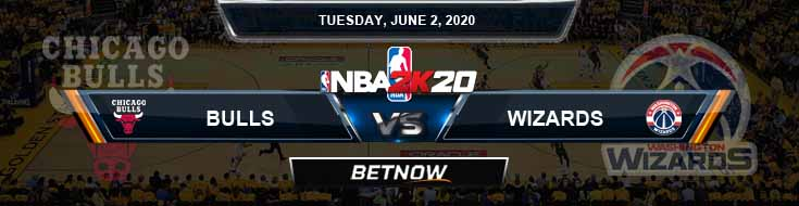 NBA 2k20 Sim Chicago Bulls vs Washington Wizards 6-2-2020 NBA Odds and Picks